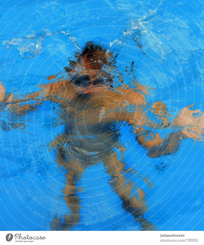 Blubb! Schwimmbad Taucher tauchen Haushalt Sport Spielen Wasser water dive diver Juttaschnecke