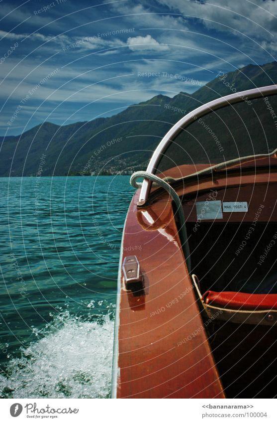 Max. Posti 4 Himmel Natur Wasser rot Freude Sommer Strand Meer Ferien & Urlaub & Reisen Wolken Berge u. Gebirge Holz Wärme Wasserfahrzeug See Wellen