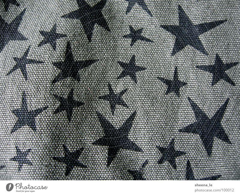 Sternchen Freude Punk Stoff lustig süß grün schwarz Stern (Symbol) Army Sterne Muster Canvas Navy Nahaufnahme Makroaufnahme Strukturen & Formen