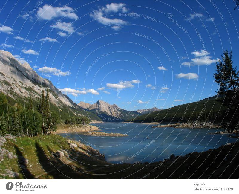 Medicine Lake Ferien & Urlaub & Reisen Berge u. Gebirge See groß Kanada Rocky Mountains Jasper