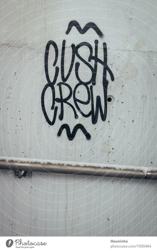 Cush Crew Winter Schnee Bayern Kleinstadt Stadt Stadtzentrum Mauer Wand Treppengeländer Schraube Beton Stahl Zeichen Schriftzeichen Graffiti Häusliches Leben