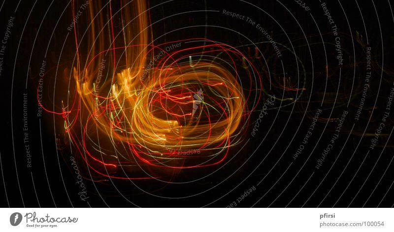 Lichter-Wirbel dunkel glänzend Blitze Oval Zürifäscht Nacht Fröhlichkeit Kunst Freizeit & Hobby Feuerwerk Farbe Lichterscheinung Verwirbelung Zürich