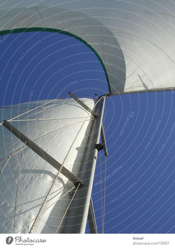Segel im Wind Wasserfahrzeug Europa Segelboot Südfrankreich Cannes