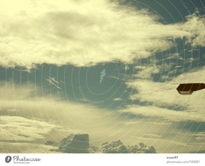 Wetterleuchte Laterne Straßenbeleuchtung Licht Lampe Götter Moral Detailaufnahme Himmel Beleuchtung Ferne Gott