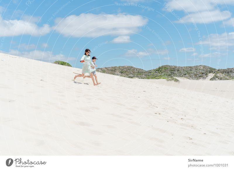 399 [Ferien] Mensch Kind Himmel Ferien & Urlaub & Reisen Sommer Freude Ferne Strand Erwachsene Leben natürlich Lifestyle Junge Familie & Verwandtschaft Freiheit Sand