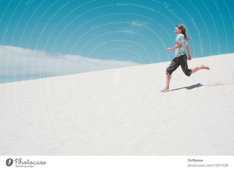 342 Kind Ferien & Urlaub & Reisen Jugendliche Sommer Sonne Landschaft Freude Junger Mann Strand Wärme Leben Glück Sand springen Lifestyle Freizeit & Hobby