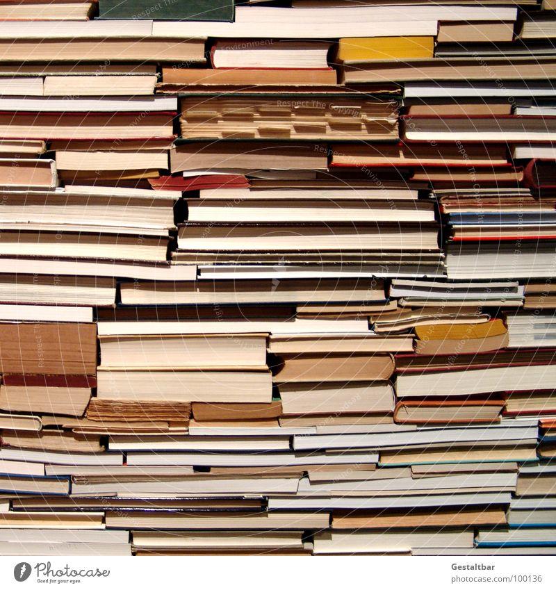 Literarisches Quartet I Buch Suche Papier Ordnung lesen Bildung Buchstaben Medien Seite Stapel finden Haufen Kunstwerk Leser Wertstoff Freizeit & Hobby