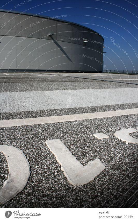 )L'º Himmel blau weiß grau Lampe Linie Beleuchtung Platz Beton Verkehr modern Schriftzeichen leer neu Streifen rund