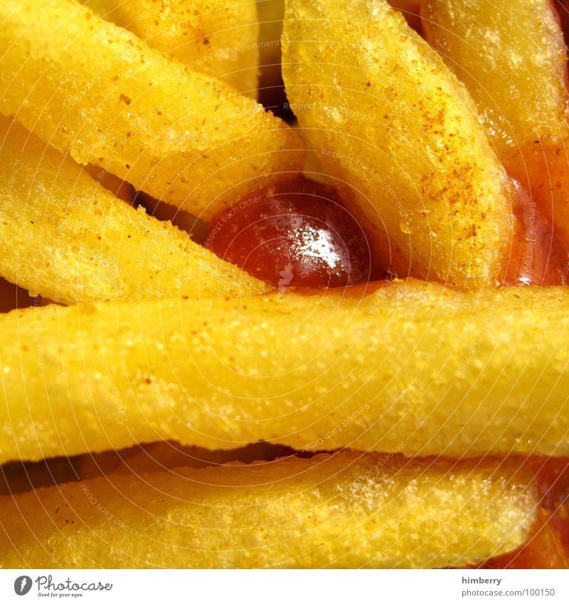 fritjes Farbfoto mehrfarbig Nahaufnahme Detailaufnahme Makroaufnahme Starke Tiefenschärfe Lebensmittel Gemüse Kräuter & Gewürze Pommes frites Ernährung Fastfood