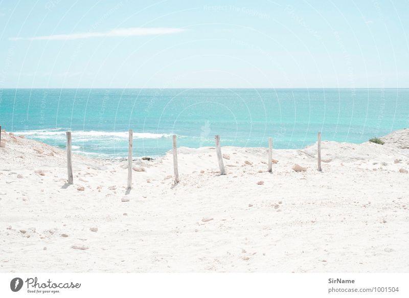 323 Himmel Ferien & Urlaub & Reisen blau weiß Wasser Sommer Sonne Meer Landschaft Strand Ferne Küste Freiheit Sand Horizont Tourismus