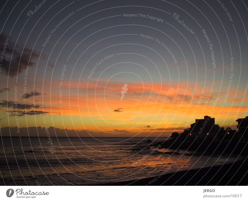 La Gomera Meer Abenddämmerung