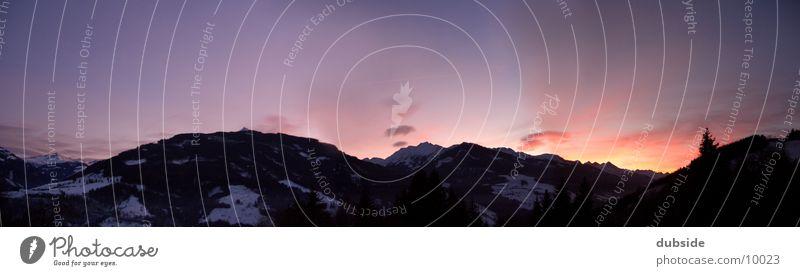 Bergpanorama Sonnenuntergang Winter Dämmerung Berge u. Gebirge Himmel Mountain