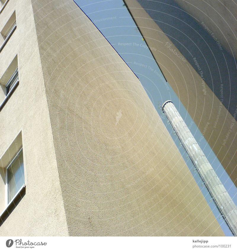 M Buchstaben Typographie Handy-Kamera Hochhaus Fassade Fenster Wohnanlage Stadt rund Pastellton Beton Etage Selbstmörder Raum Mieter Leben live Ghetto