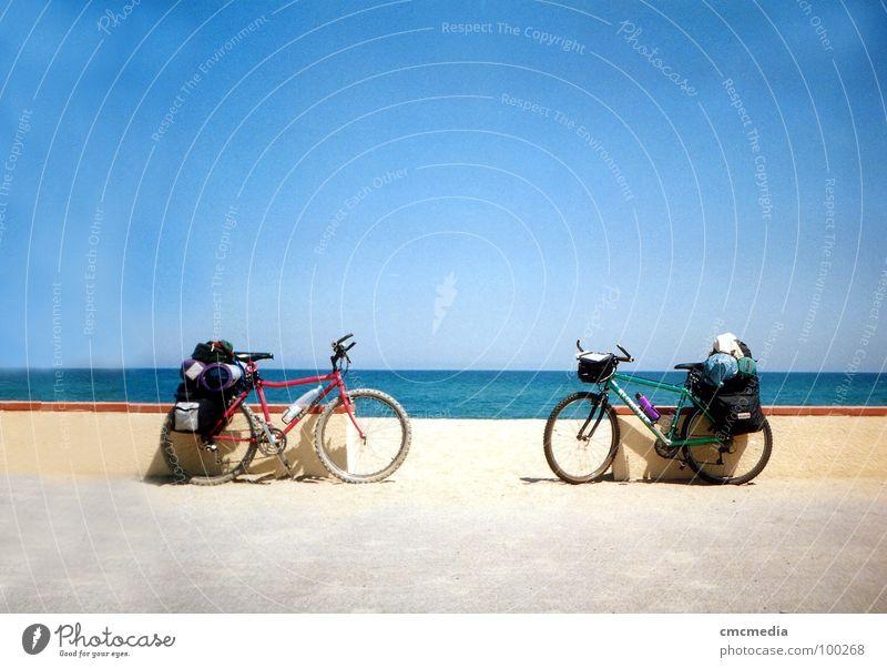 Tour de France Mountainbike Fahrrad Meer Strand Promenade Ferien & Urlaub & Reisen Küste Himmel
