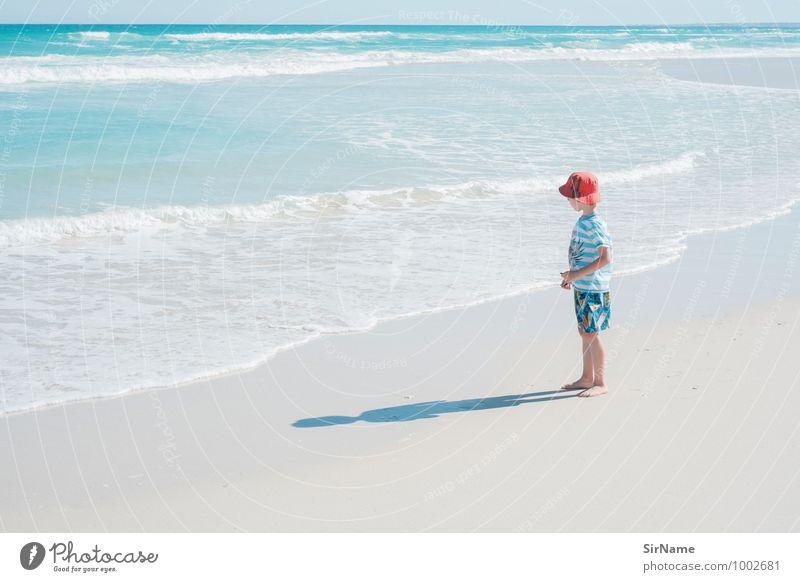 333 Kind Natur Ferien & Urlaub & Reisen schön Wasser Sommer Meer Landschaft Strand Ferne Wärme Leben Junge Freiheit Sand Horizont