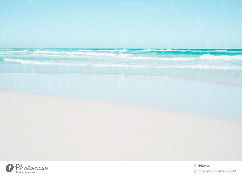 302 [idylle] Natur Ferien & Urlaub & Reisen blau schön Wasser Sommer Meer Landschaft ruhig Strand Ferne Wärme Freiheit Schwimmen & Baden Sand Horizont