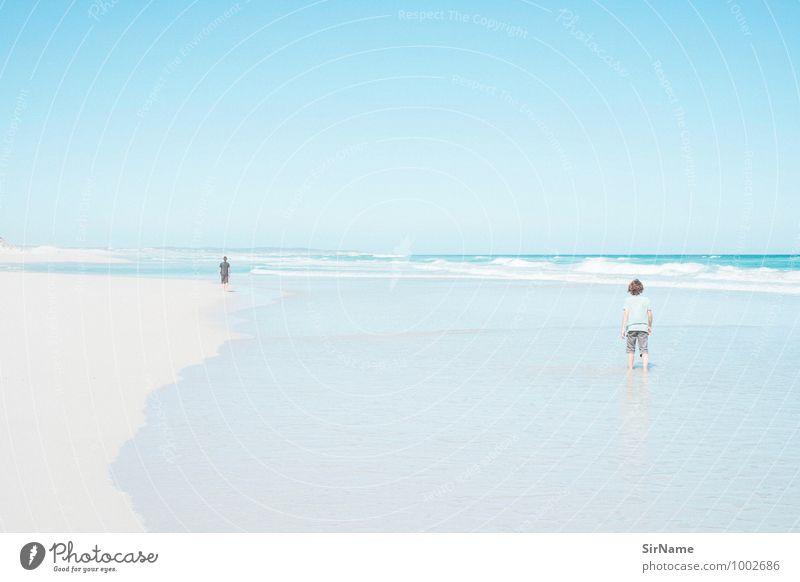 343 Ferien & Urlaub & Reisen Tourismus Ausflug Ferne Freiheit Sommerurlaub Strand Meer Wellen wandern Junge Kindheit Jugendliche Leben 2 Mensch Landschaft Sand