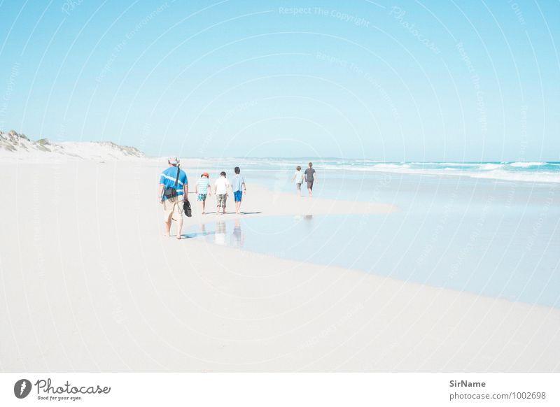 301 [nur zu besuch] Mensch Kind Natur Ferien & Urlaub & Reisen Sommer Meer Landschaft Strand Ferne Erwachsene Leben Freiheit Menschengruppe Horizont