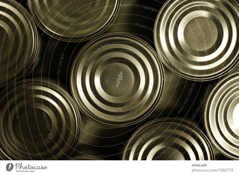Dosen / Konservendose Gesunde Ernährung Umwelt Essen grau Lebensmittel Metall genießen Armut kaufen gut Appetit & Hunger Stress Schalen & Schüsseln silber