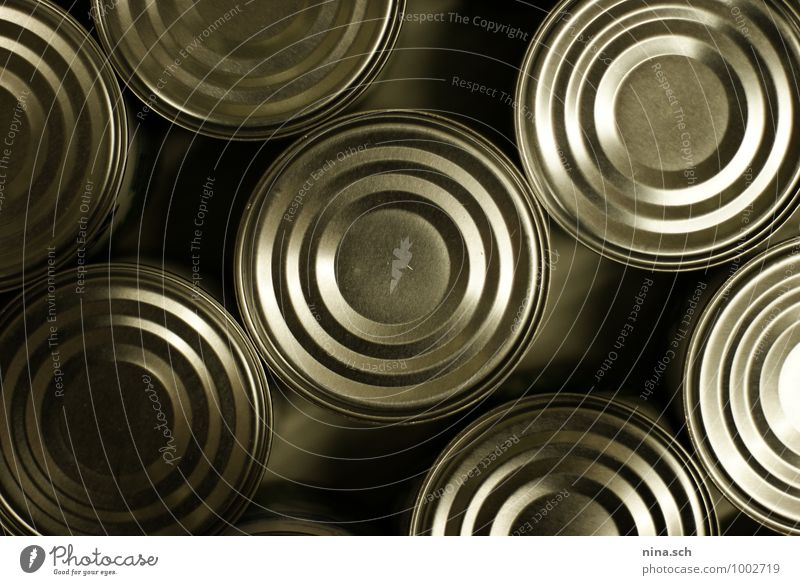 Dosen / Konservendose Lebensmittel Ernährung Schalen & Schüsseln Gesunde Ernährung Koch Verpackung Metall kaufen Essen füttern Armut Billig gut grau silber