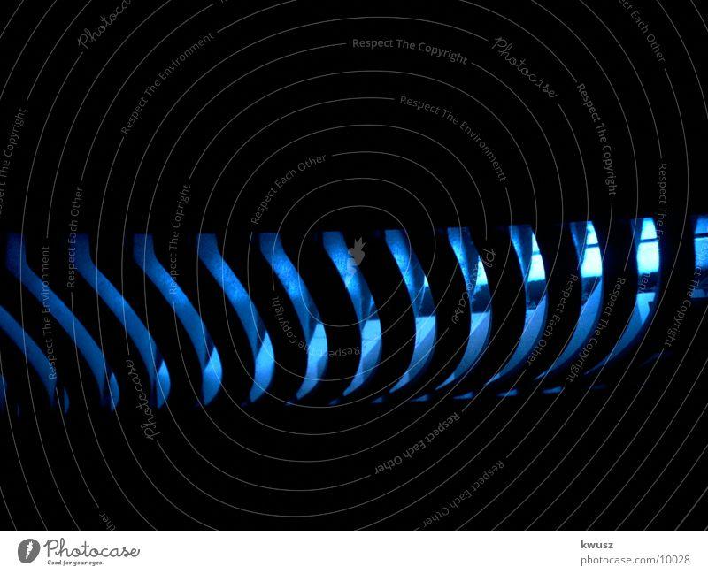 blaue Lamellen II Lampe Fototechnik