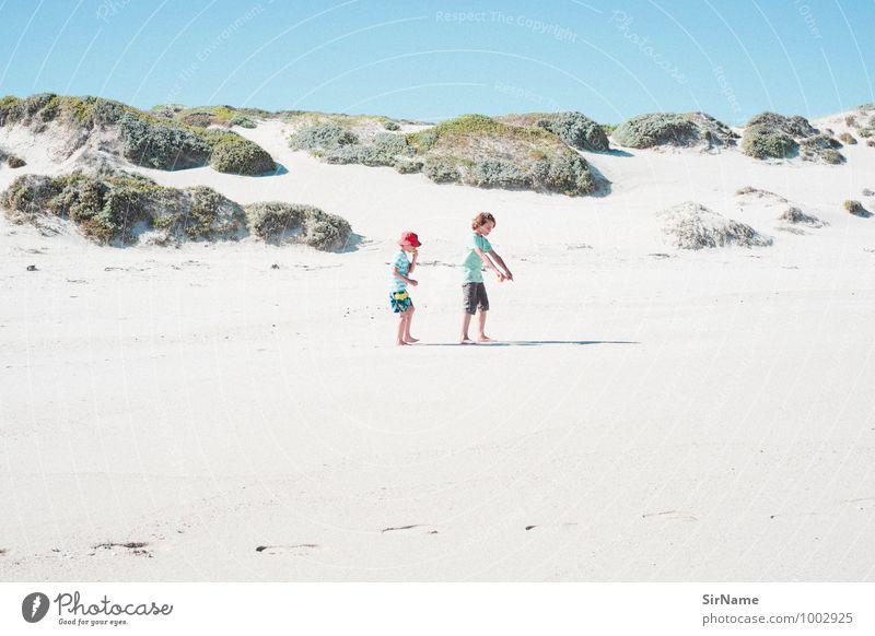 351 Kinderspiel Ferien & Urlaub & Reisen Ausflug Ferne Freiheit Sommer Sommerurlaub Strand Junge Geschwister Familie & Verwandtschaft Kindheit 2 Mensch