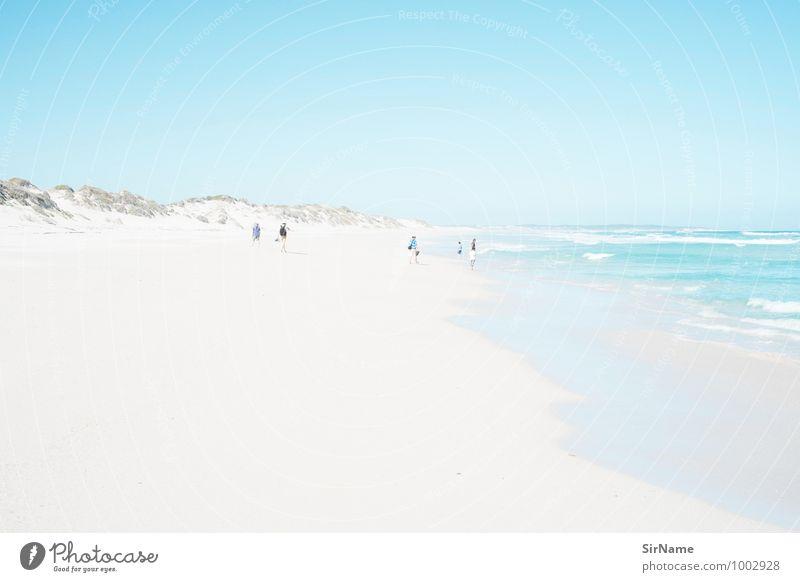 357 Mensch Natur Ferien & Urlaub & Reisen Sommer Sonne Erholung Meer Landschaft Ferne Strand Leben Menschengruppe Freiheit Zusammensein Tourismus frei