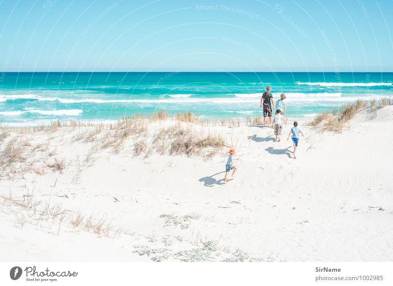 369 Mensch Ferien & Urlaub & Reisen Sommer Sonne Meer Landschaft Ferne Strand Junge Spielen Glück Freiheit oben Zusammensein Horizont Freundschaft