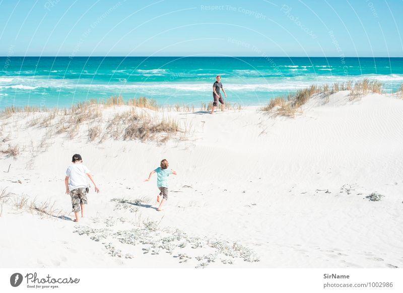 348 Mensch Kind Natur Ferien & Urlaub & Reisen Jugendliche Sommer Meer Strand Ferne Leben Junge Glück Freiheit Zusammensein Kindheit 13-18 Jahre
