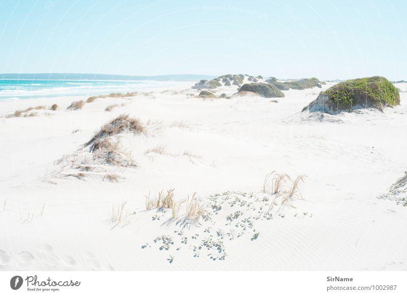 312 Ferien & Urlaub & Reisen Ferne Freiheit Sommerurlaub Strand Meer Natur Landschaft Sand Wolkenloser Himmel Sonnenlicht Schönes Wetter Wärme Küste einfach