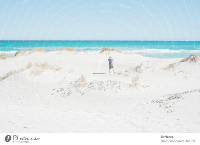 360 Mensch Ferien & Urlaub & Reisen Mann Sommer Sonne Erholung Meer Strand Ferne Leben Senior Küste Glück Freiheit Zufriedenheit Tourismus