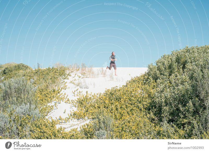 327 Ferien & Urlaub & Reisen Ausflug Abenteuer Freiheit Sommer Sommerurlaub Sonne Strand Fitness Sport-Training Junger Mann Jugendliche Leben 1 Mensch