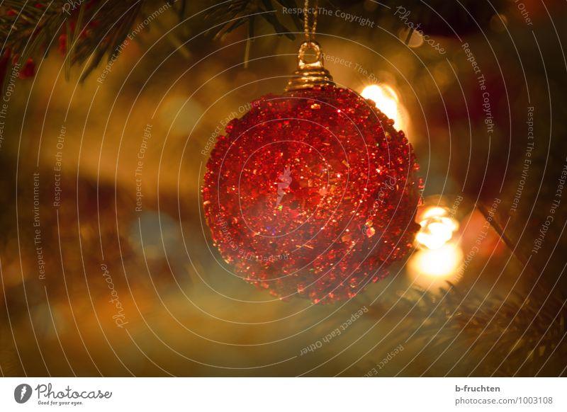 Glitzerkugel Weihnachten & Advent Baum rot Erotik Gefühle elegant Weihnachtsbaum Schmuck Christbaumkugel Weihnachtsdekoration