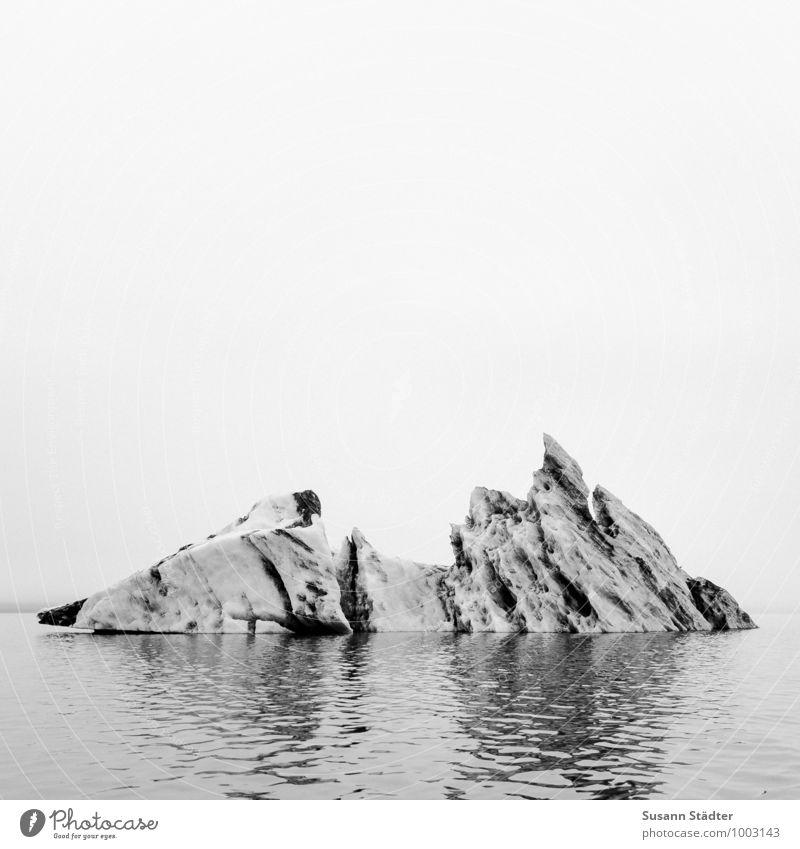 Eisberg Wasser Schwimmen & Baden Frost Island Jökulsárlón Gletschereis Eissee Aschewolke