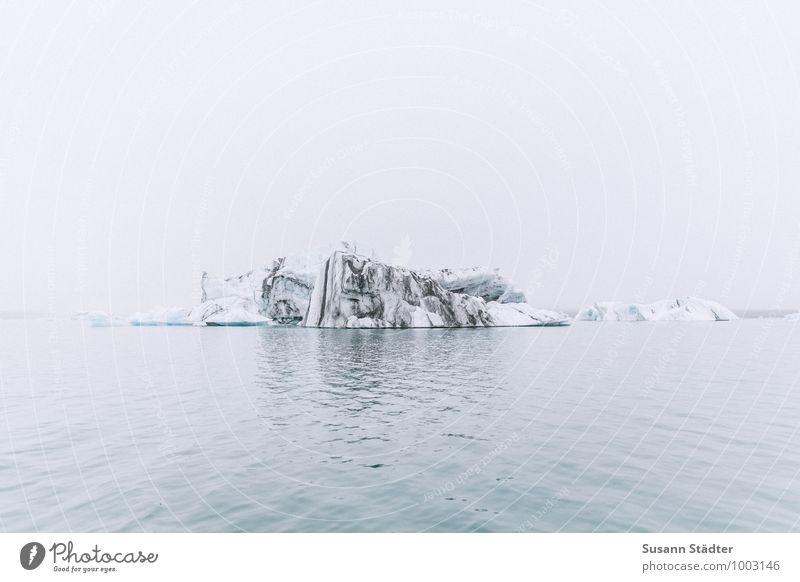 jökulsarlon Himmel Natur kalt Umwelt Berge u. Gebirge Küste Felsen Eis Nebel Wellen Klima Urelemente Frost Vergangenheit Seeufer Island