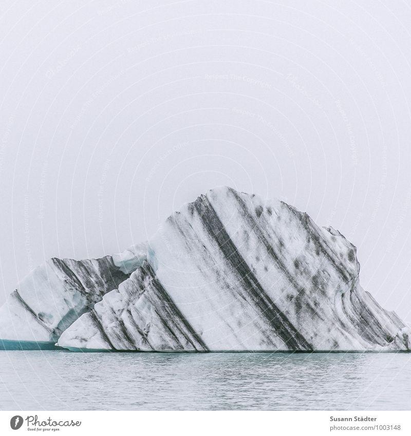 island Himmel Natur alt See Eis Wellen Klima Frost Seeufer Island Gletscher Eisberg Naturgewalt Jökulsárlón Gletschereis Aschewolke