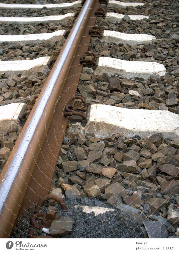 Gleis Gleise Eisenbahn Kies Industrie Schwellen