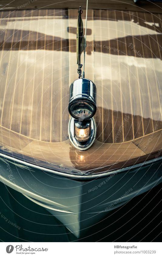 Bug Verkehrsmittel Schifffahrt Bootsfahrt Sportboot Jacht Motorboot Wasserfahrzeug Hafen Jachthafen maritim braun Freude Reichtum Mobilität