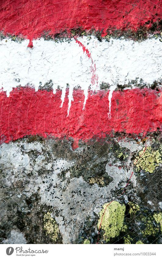 Die Wandersaison kann beginnen Ferien & Urlaub & Reisen weiß rot Berge u. Gebirge Stein leuchten Schilder & Markierungen wandern Ausflug Hinweisschild einfach