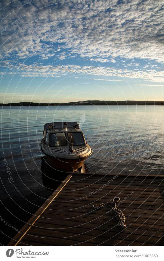 back home Sommer Sommerurlaub Landschaft Himmel Wolken Horizont See Värmeln Bootsfahrt Motorboot maritim Stimmung ruhig Sehnsucht Fernweh Abenteuer entdecken