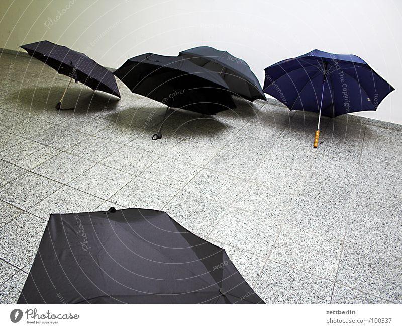 Schirme schwarz Herbst Regen nass Dach Schutz Regenschirm 8 Nieselregen