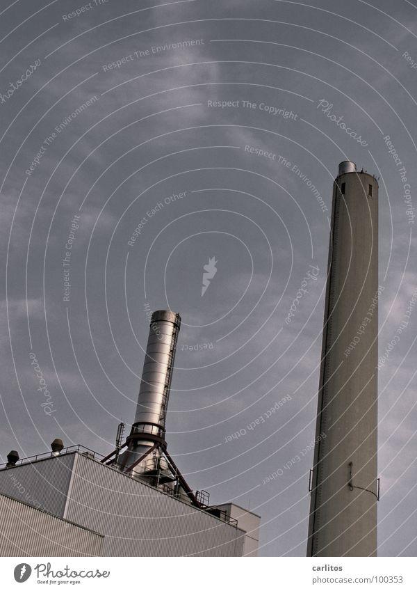 Dick und Doof Beton Industrie Klima Abgas Lagerhalle Schornstein Staub Umweltverschmutzung Wasserdampf Klimawandel Kohlendioxid Heizkraftwerk Smog Gas Edelstahl Luftverschmutzung