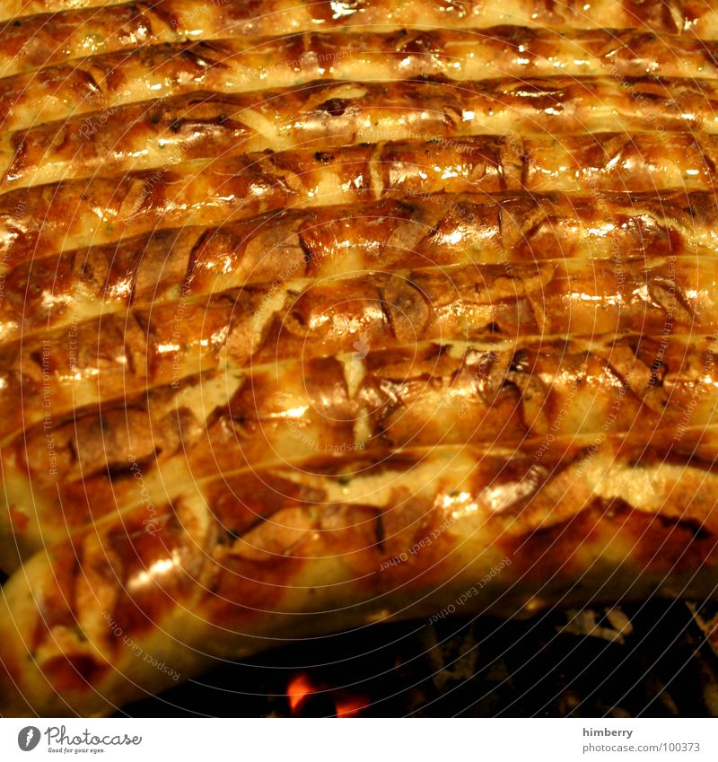 fried sausage Farbfoto mehrfarbig Nahaufnahme Detailaufnahme Makroaufnahme Strukturen & Formen Textfreiraum links Textfreiraum rechts Textfreiraum oben