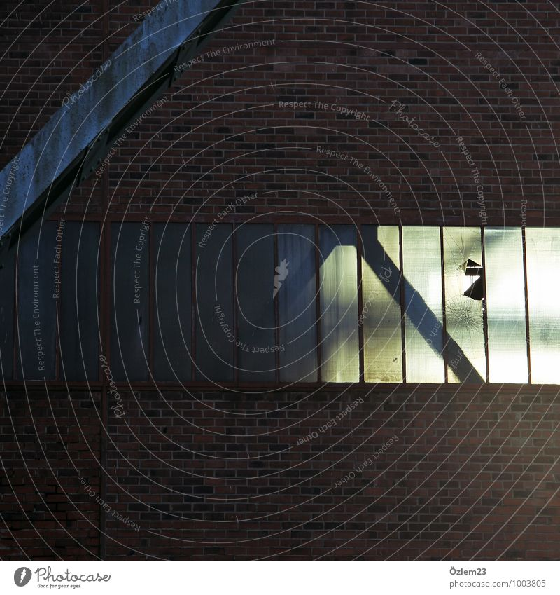 Schicht im Schacht Kunst Architektur Industrieanlage Bauwerk Gebäude Fassade Sehenswürdigkeit Blühend Denken träumen dunkel hell gelb grau rot Gefühle
