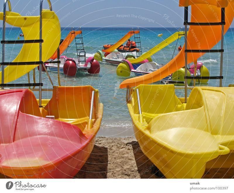 bade-spass Wasser Ferien & Urlaub & Reisen Meer Strand Freude ruhig Erholung Spielen Küste Sand Schwimmen & Baden Tourismus Idylle Banane Saison Rutsche