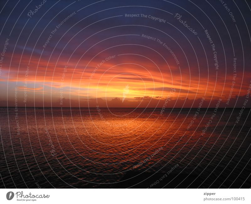Sonne und Meer Mauritius Ferien & Urlaub & Reisen Sonnenuntergang Sommer Strand Himmelskörper & Weltall Wasser