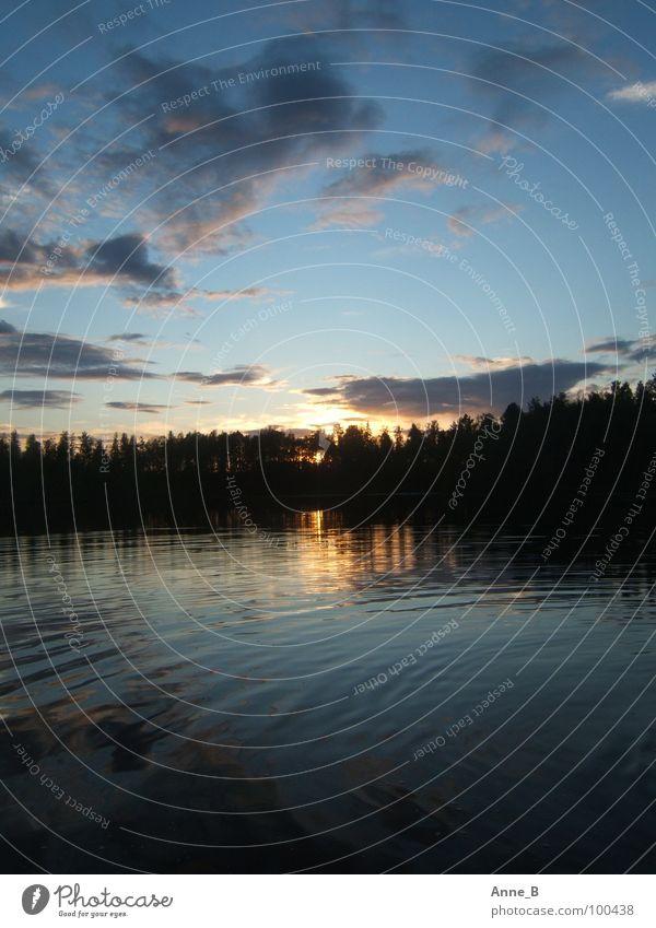 Finnish Sunset Erholung ruhig Ferien & Urlaub & Reisen Ferne Sonne Natur Wasser Himmel Wolken See Romantik Finnland Sonnenuntergang Skandinavien Farbfoto