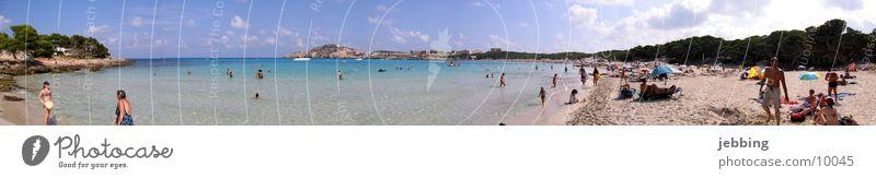 Cala Agulla - Mallorca Spanien See Meer Strand Panorama (Aussicht) Sommer Ferien & Urlaub & Reisen Europa Bucht Schwimmen & Baden Mittelmeer Wasser schwimmenn
