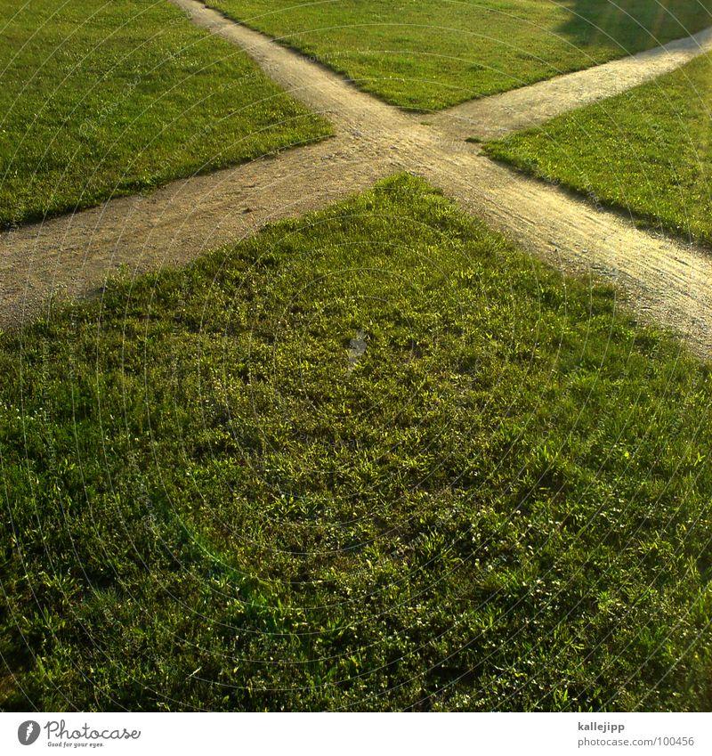 ix trampelpfade kreuzen Fußweg Fußgänger Spaziergang wandern gehen grün Abzweigung Richtung rechts links vorwärts Verbindung DSL Globalisierung global weltweit