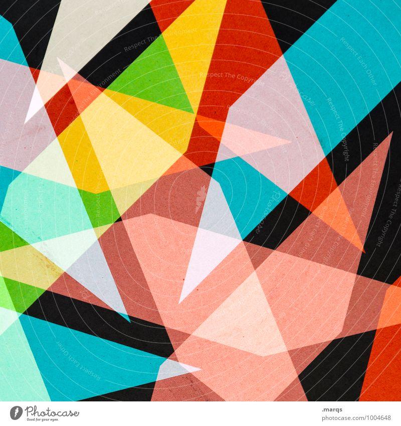 Schnipsel Stil Design Metall außergewöhnlich eckig einzigartig verrückt blau gelb grün rot schwarz Farbe Geometrie Strukturen & Formen Farbfoto mehrfarbig